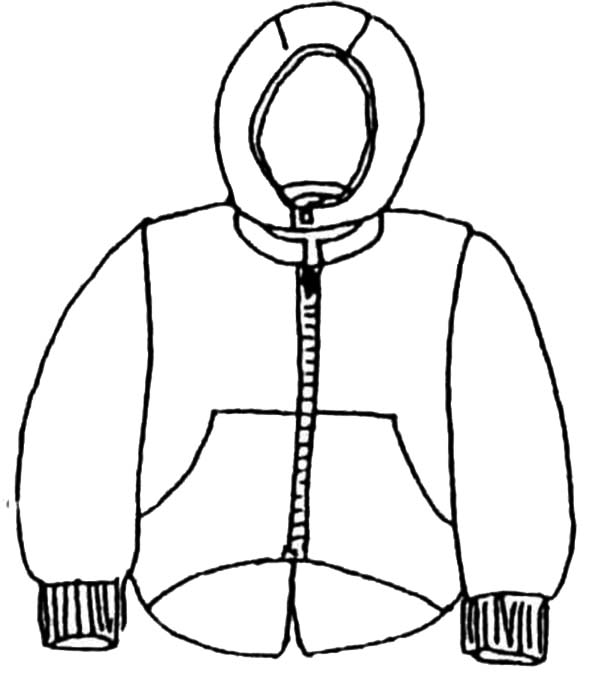 Winter Clothing, : Winter Clothes to Protect Our Body Warm in Winter Clothing Coloring Page