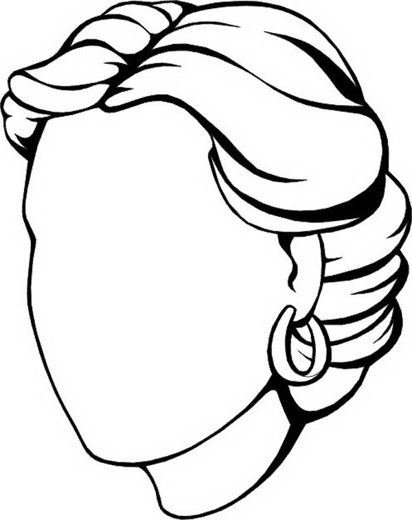 Face, : Woman Empty Face Coloring Page
