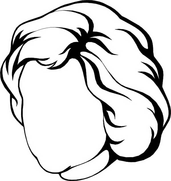 Face, : Woman with Heart Shaped of Face Coloring Page