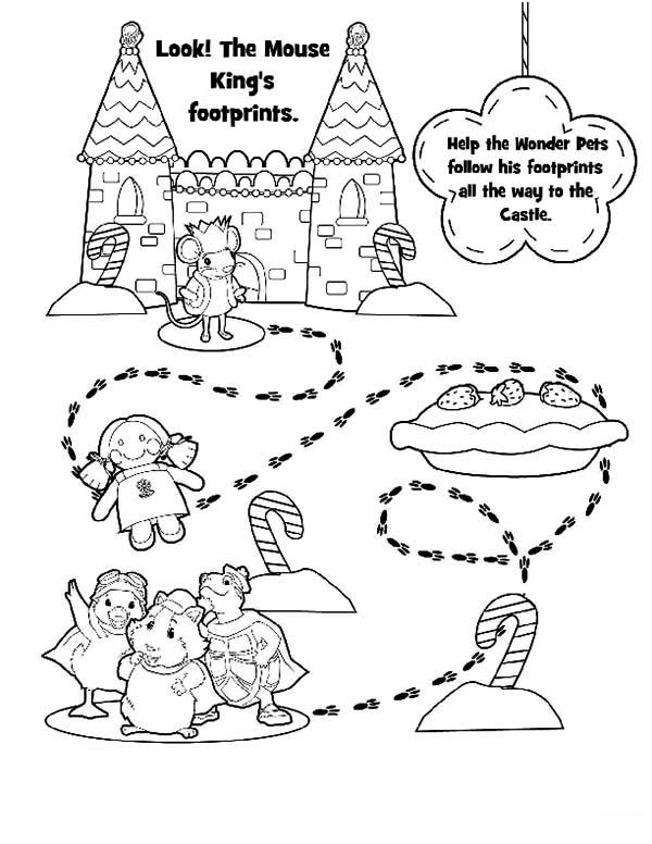 The Wonder Pets, : Wonder Pets Mission is to Find the King Mouse Coloring Page