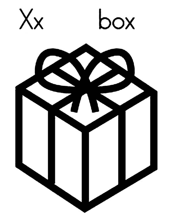 Box, : X for Box Coloring Page