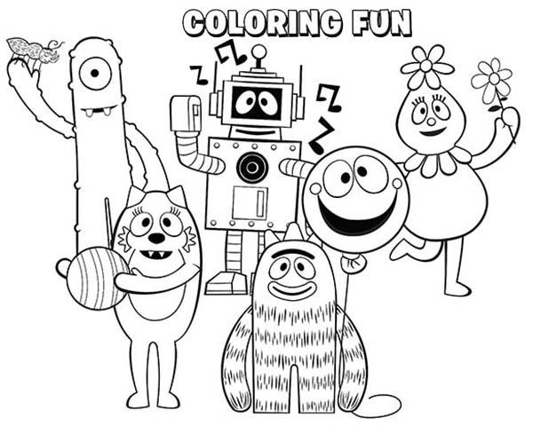 Yo Gabba Gabba, : Yo Gabba Gabba Coloring Page for Kids
