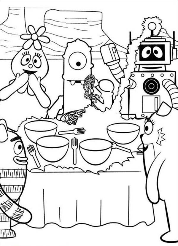 Yo Gabba Gabba, : Yo Gabba Gabba Show About Making Cookie Coloring Page