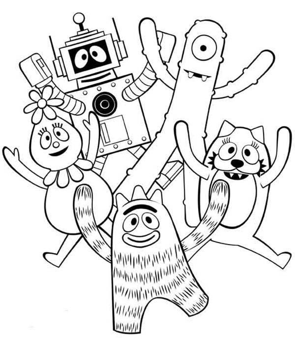 Yo Gabba Gabba, : Yo Gabba Gabba Show for Kids Coloring Page