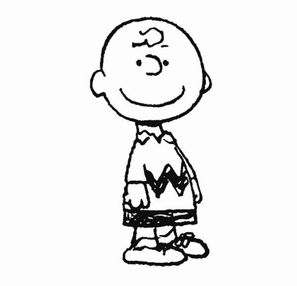 Charlie Brown, : Charlie Brown is Smiling at You Coloring Page