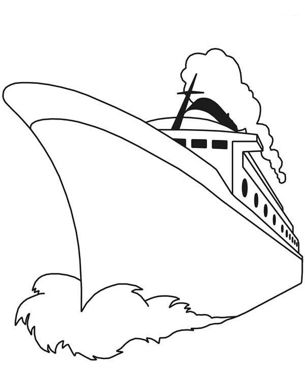 Boat, : passenger-ship-coloring-page