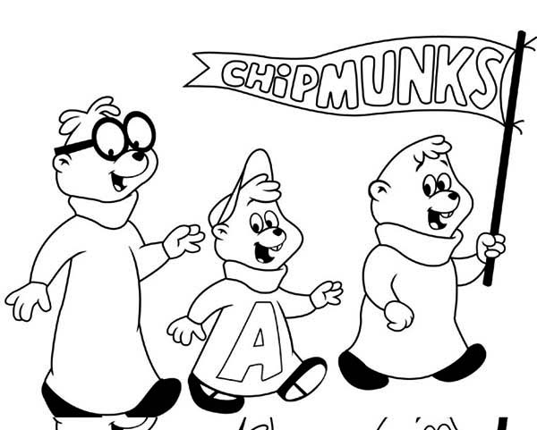 The Flintstones, : perfect-alvin-and-the-chipmunks-coloring-pages-printables-best-quality