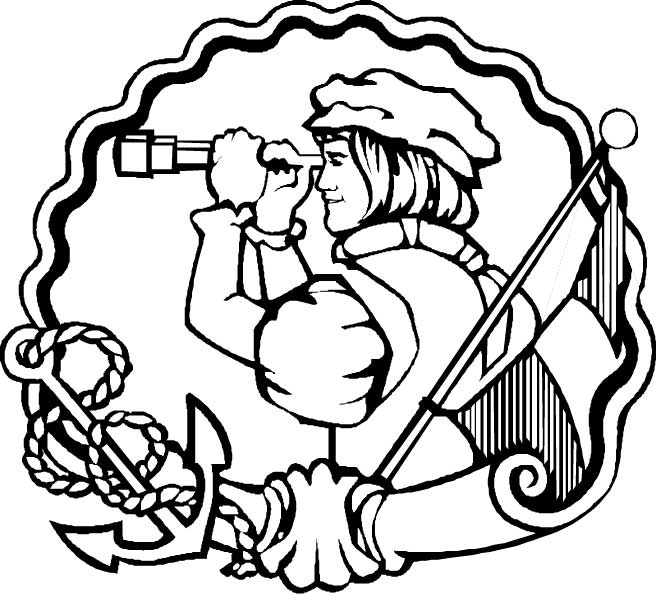Columbus Day, : Columbus Day Festival Coloring Page