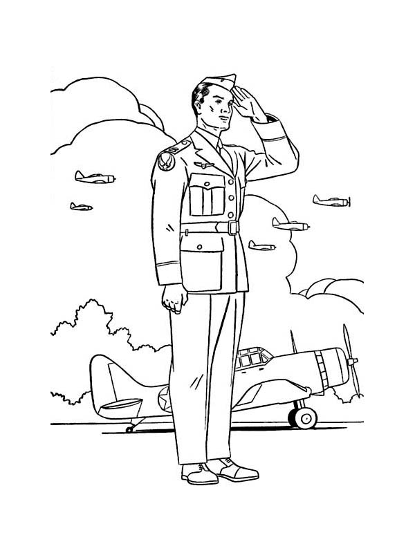 Veterans Day, : Flight Squadron on Duty for Celebrating Veterans Day Coloring Page
