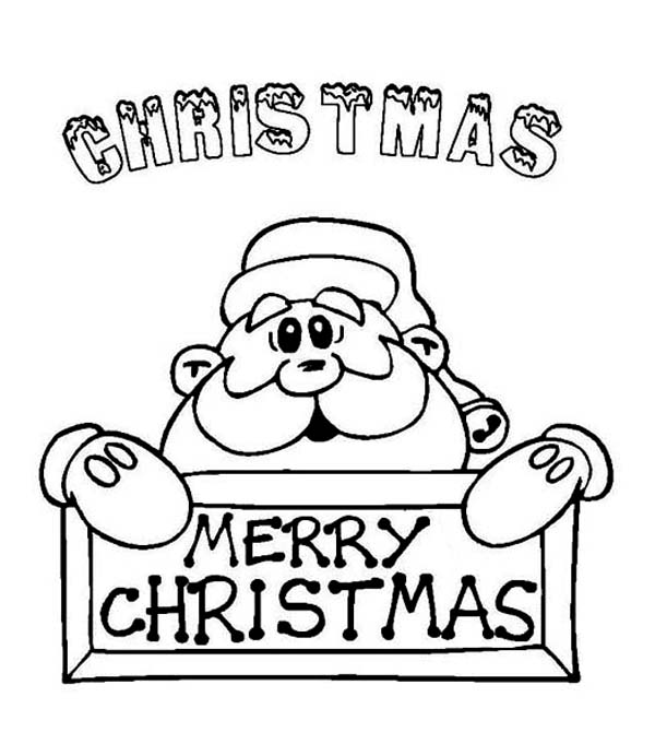 Christmas, : Santa Claus Says Happy Merry Christmas to Y'all on Christmas Coloring Page