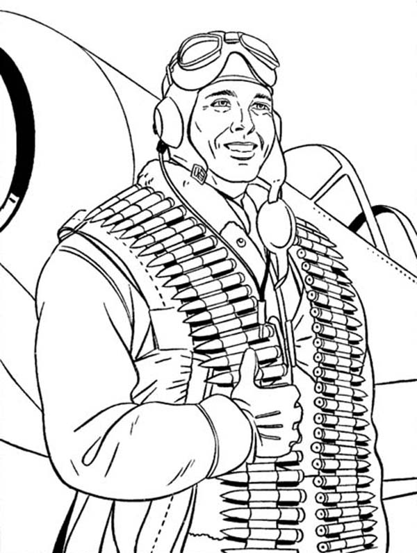Veterans Day, : US Airbone on Duty Celebrating Veterans Day Coloring Page