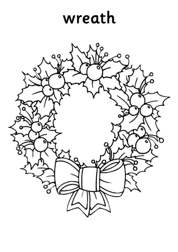 Christmas Wreaths, : Awesome Picture of Christmas Wreaths Coloring Pages