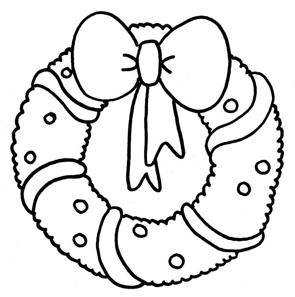 Christmas Wreaths, : Christmas Wreaths Coloring Pages for Kids