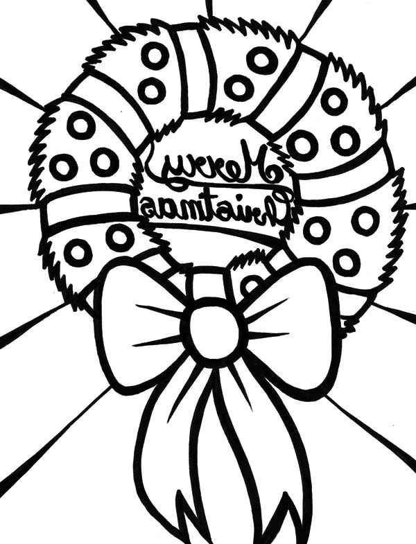 Christmas Wreaths, : Christmas Wreaths on Christmas Eve Coloring Pages