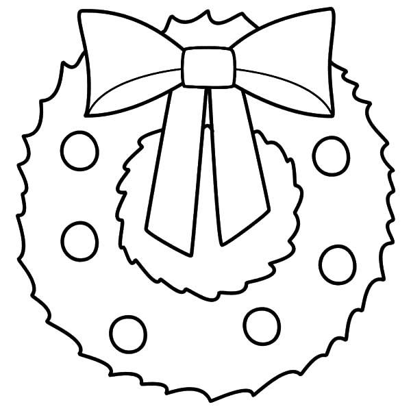 Christmas Wreaths, : Image of Christmas Wreaths Coloring Pages