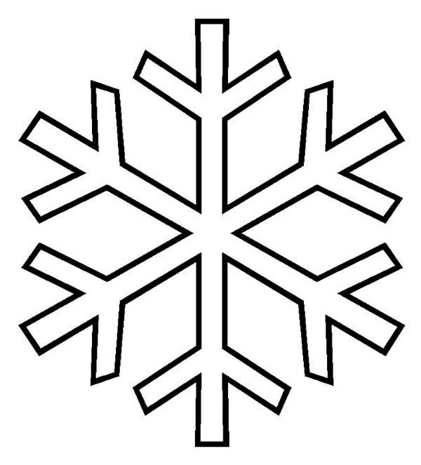 Winter Season, : Typical Snowflake Pattern on Winter Season Coloring Page
