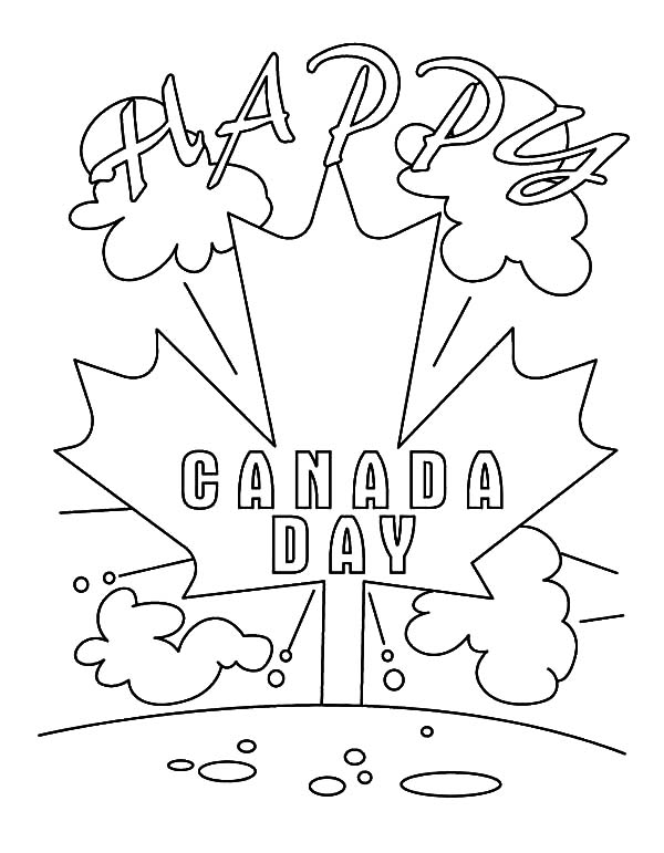 Canada Day, : A Happy Canada Day Celebration Coloring Pages