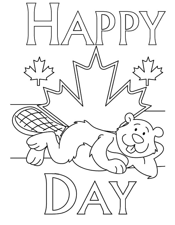 Canada Day, : A Joyful Canada Day Celebration Coloring Pages