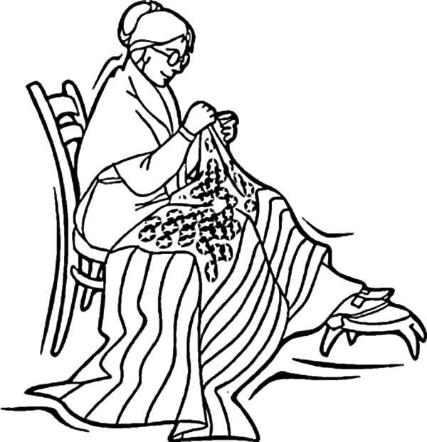 Independence Day, : Betsy Ross Sewed United States Flag for Independence Day Celebration Coloring Page