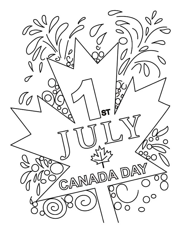 Canada Day, : Canada Day Celebration on July 1st Coloring Pages