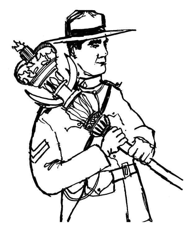 Canada Day, : Canadian Ranger on Canada Day Celebration Coloring Pages
