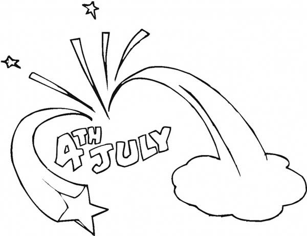 Independence Day, : Celebration of Independence Day Celebration Coloring Page