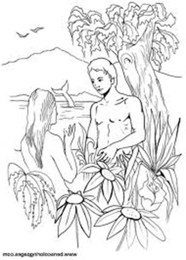 Days Creation, : Adam and Eve in Days of Creation Coloring Pages