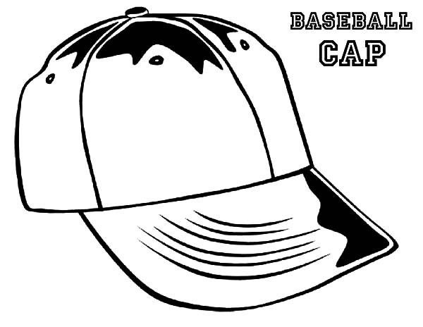Hat, : Baseball Hat Coloring Pages