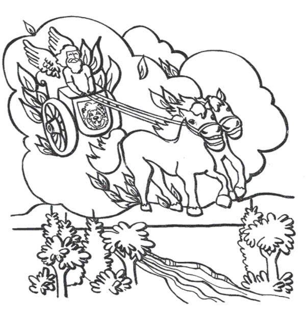 Elijah, : Chariot of Fire Prophet Elijah Coloring Pages