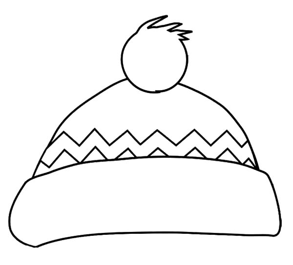 Hat, : Cold Winter Hat Coloring Pages