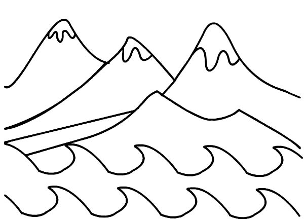 Days Creation, : Days of Creation Mountains Coloring Pages