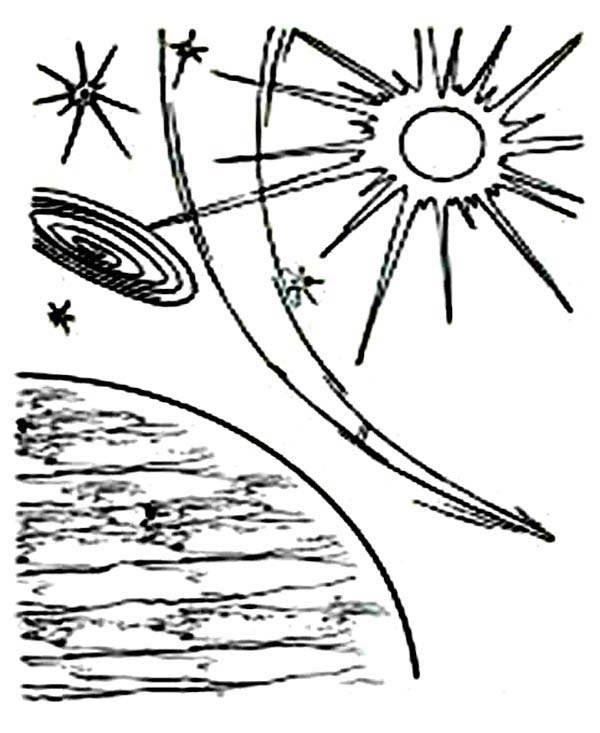 Days Creation, : Days of Creation Planets Coloring Pages