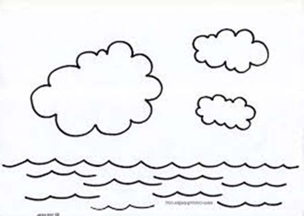 Days Creation, : Days of Creation Water Cycle Coloring Pages