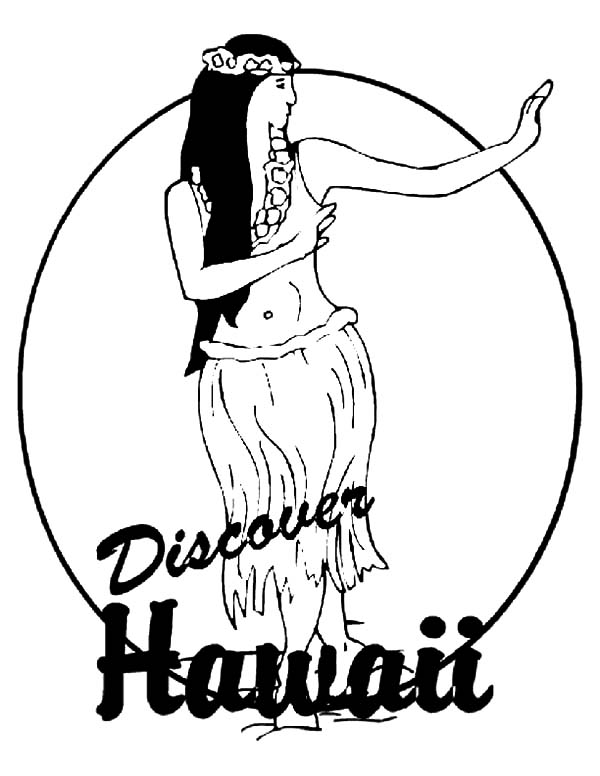Hawaii, : Discover Hawaii Coloring Pages