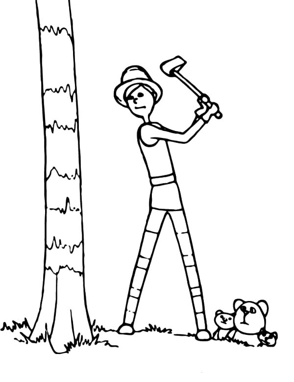 Dr Seuss The Lorax The Onceler Cut Down The Tree Coloring Pages ...