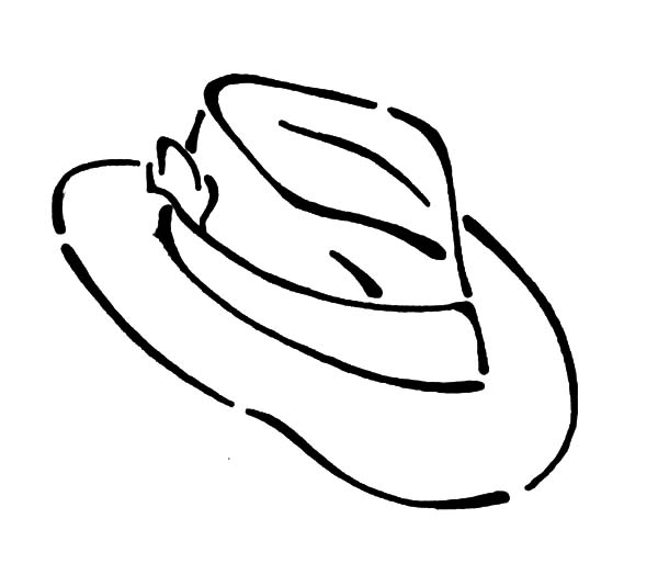 Hat, : Drawing Hat Coloring Pages