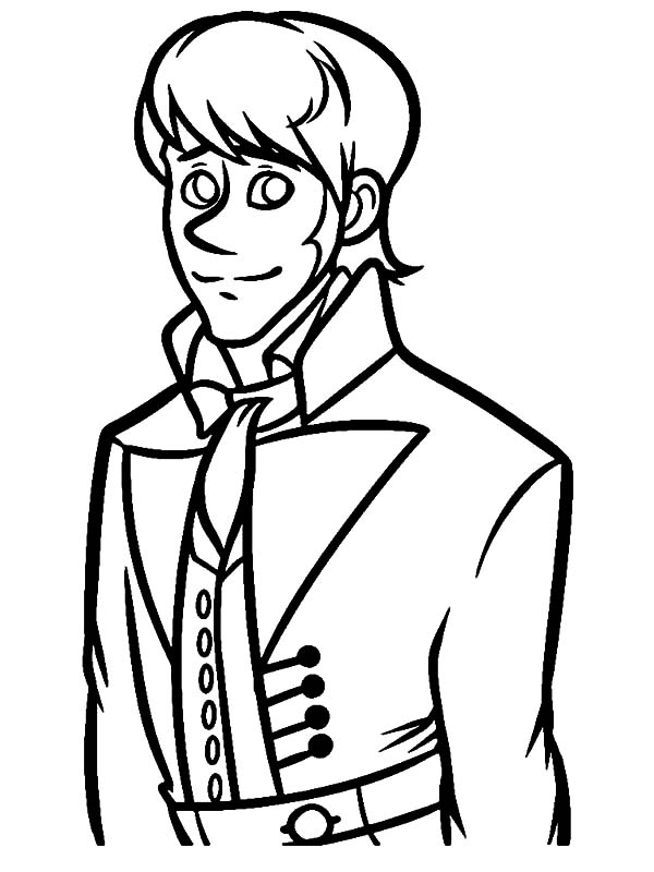 Hans, : Drawing Prince Hans Coloring Pages
