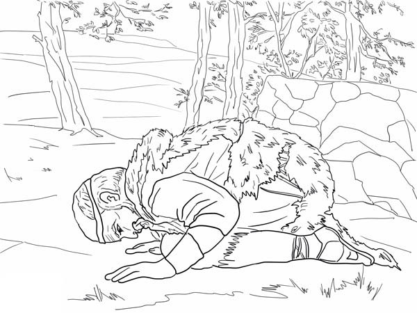 Elijah, : Elijah Prays for Rain Coloring Pages