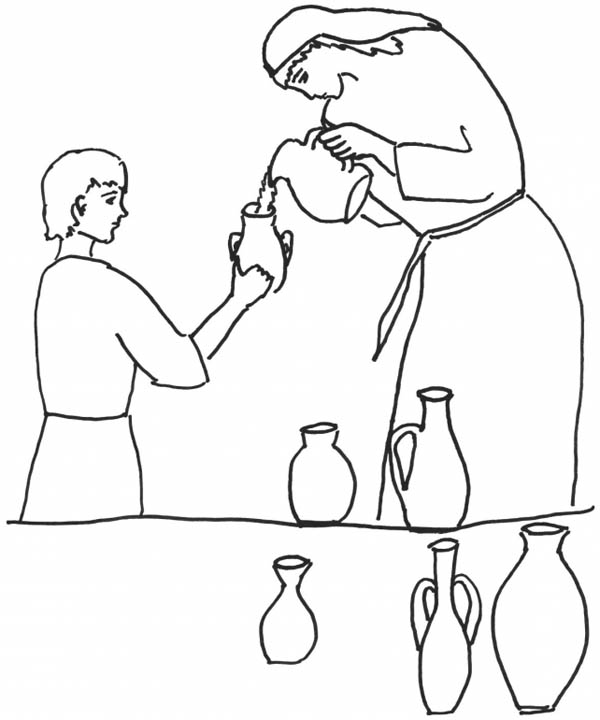 Elijah, : Elijah Take Some Milk Coloring Pages