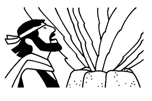 Elijah, : Elijah and Contest at Carmel Coloring Pages