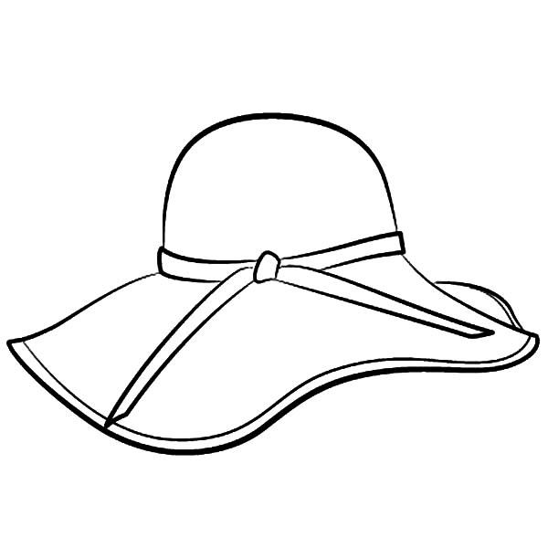 Hat, : Floppy Hat Coloring Pages