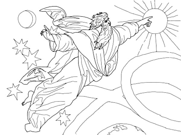 Days Creation, : Fourth Days of Creation Coloring Pages