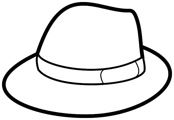 Hat, : Gentleman Hat Coloring Pages