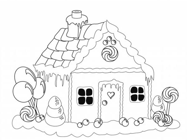 Home On The Prairie, : Gingerbread-House-Christmas-Coloring-Page-for-kids