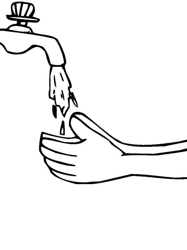 Hand Washing, : Hand Washing Coloring Pages