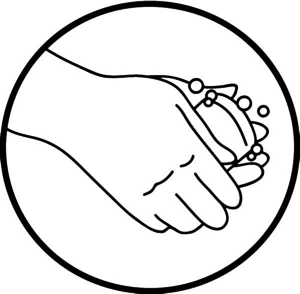 Hand Washing, : Hand Washing Picture Logo Coloring Pages