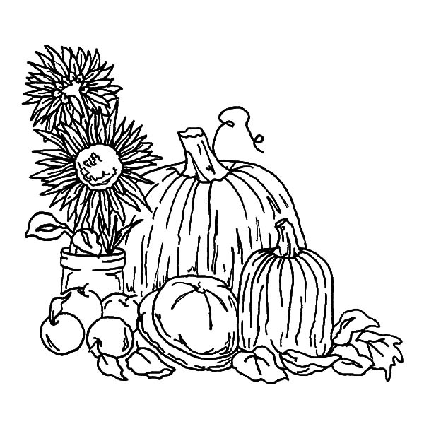 Harvests, : Harvests Feast Coloring Pages