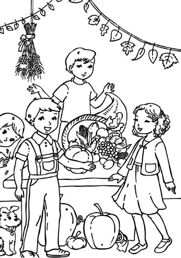 Harvests, : Harvests Festival Coloring Pages