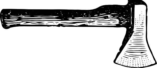 hatchet, : Hatchet Sketch Coloring Pages