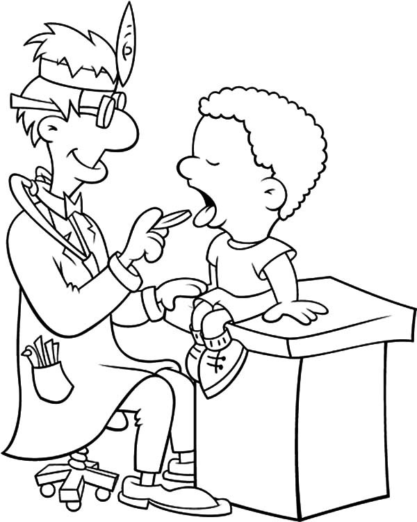 Health, : Health Teeth Clinic Coloring Pages